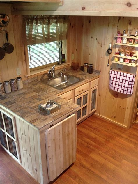 Small Home Office Square Footage A 240 Square Tiny House With Downstairs Office