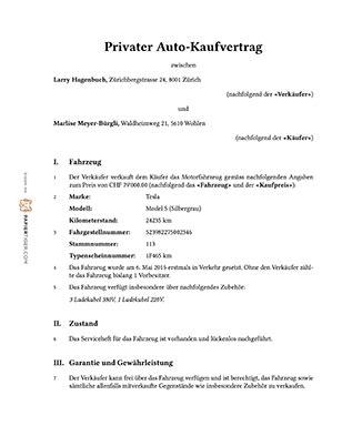Kaufvertrag Auto Schweiz by Privaten Auto Kaufvertrag Bequem Und Einfach Mit Wenigen