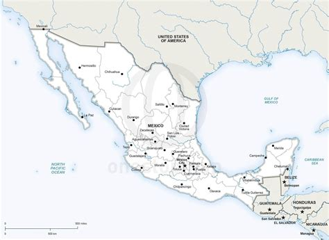 political map mexico vector map of mexico political one stop map