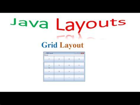 youtube java layout java layouts 03 grid layout youtube