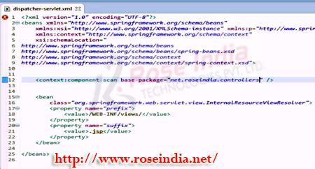 xml tutorial roseindia spring 4 mvc hello world exle spring 4 mvc tutorial