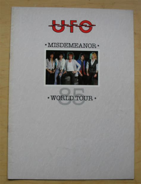 Misdemeanor Records Ufo The Misdemeanor Tour Vinyl Records Lp Cd On Cdandlp