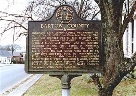 Bartow County Court Records Historical Markers By County Georgiainfo
