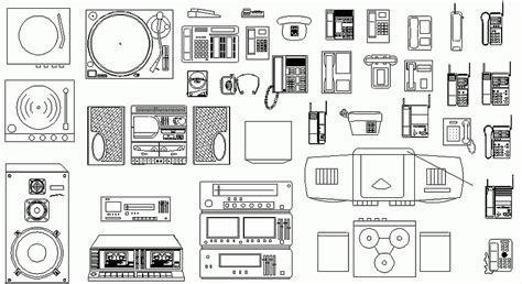 dwg libreria librer 237 as de bloques autocad equipos de sonido