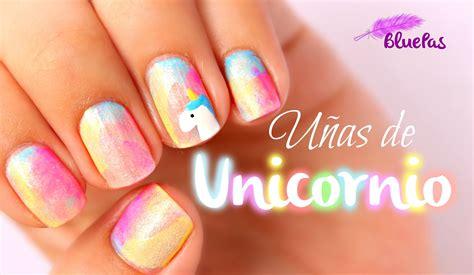 imagenes de unas decoradas acrigel u 241 as de unicornio mybluepas youtube