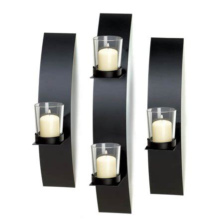 Modern Candle Wall Sconces by Candle Wall Sconce Black Metal Wall Candle Sconce Modern