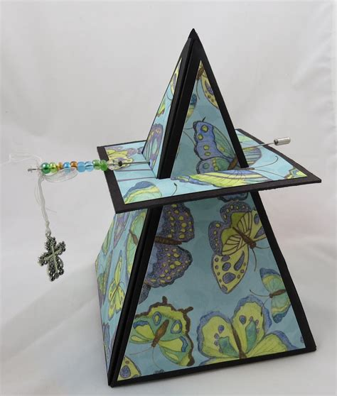 pyraid exploding box card template pyramid box clack great gifts cd paper creations
