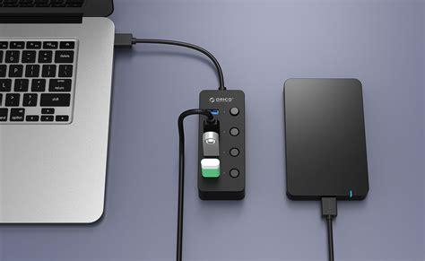 Special Orico W9ph4 4 Port Portable Usb 3 0 Hub orico usb 3 0 high speed usb hub 4 port with on switch