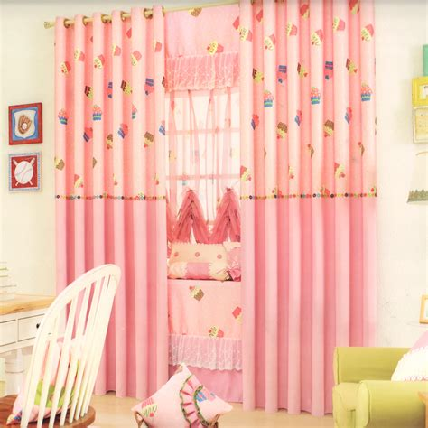 cupcake kitchen curtains sweet cupcake patterns kids pink curtains