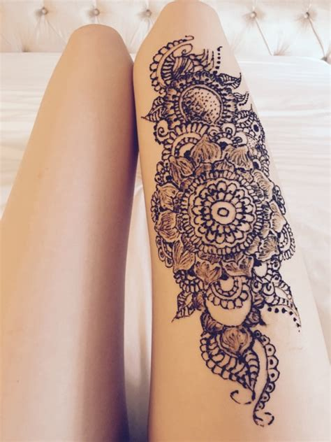 henna tattoo designs on thigh henna on leg