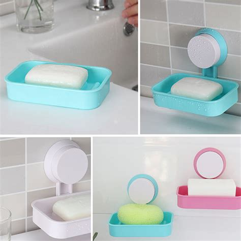 bathroom shower soap holder 1pc plastic bathroom shower strong suction cup soap dish