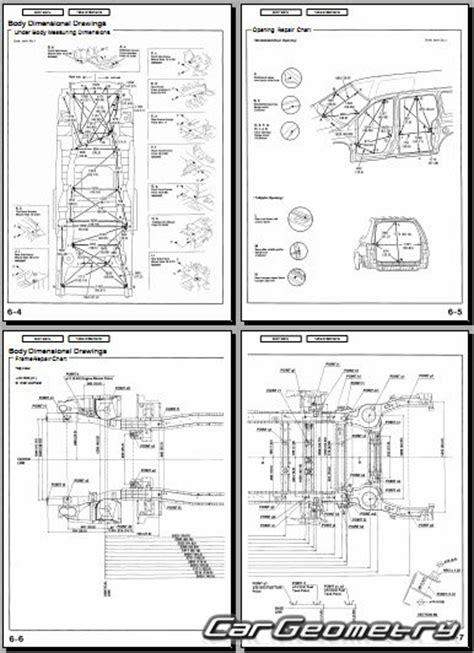 кузовные размеры honda odyssey rl1 1999 2004 usa body