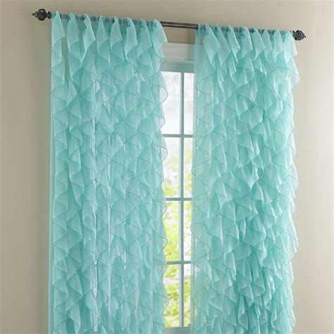 cascade valance curtain cascade rod pocket curtain sheer curtains brylanehome