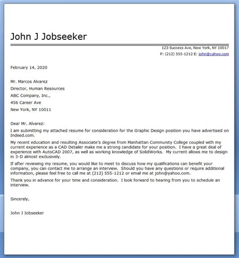 graphic design cover letter sle pdf resume downloads