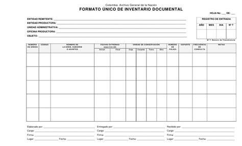 Formato Unico De Inventario Documental | formato unico de inventario documental 1