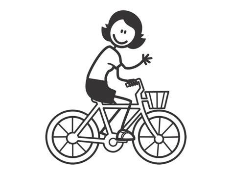 Fahrrad Aufkleber Wei by Weitere Accessoires Mutter Frau Mit Fahrrad Aufkleber