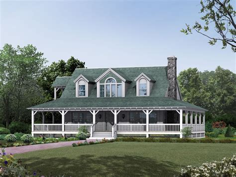 country farmhouse plans with wrap around porch cane hill country farmhouse plan 049d 0010 house plans