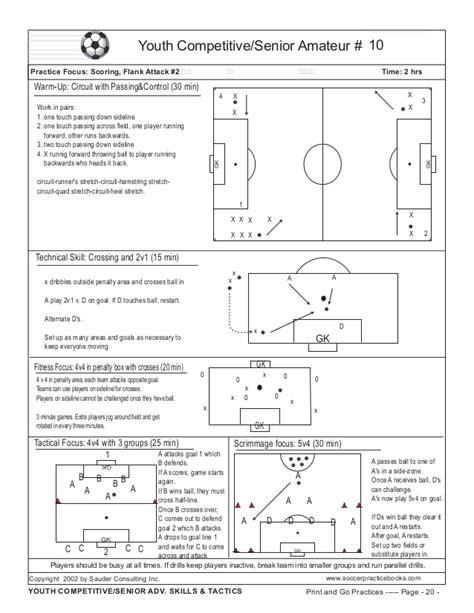 soccer practice plan template book print go soccer practice plans