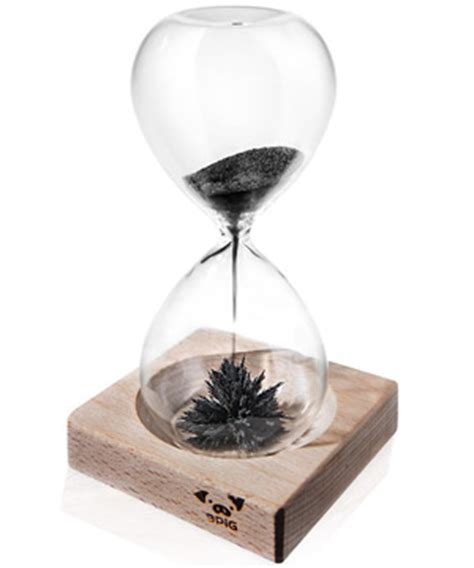 Cool Desk Clock Magnetic Sand Hourglass Desktop Curio Willed With Iron