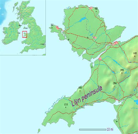 peninsula map llŷn peninsula