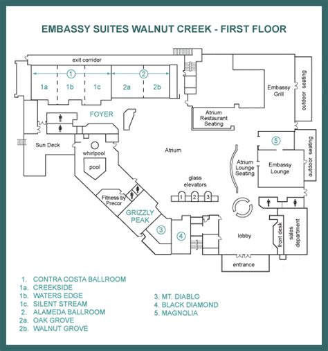 embassy suites floor plan main floor floor map
