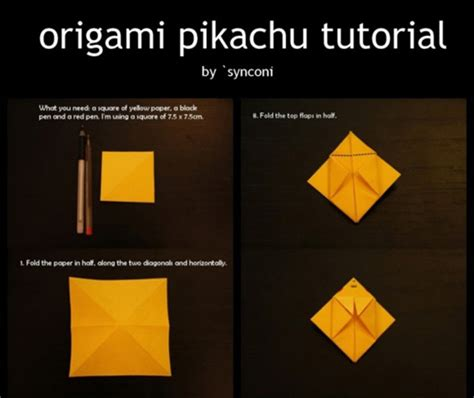 How To Make A Pikachu Origami - origami pikachu barnorama