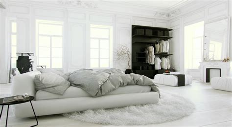The All White Bed Style All White Bedroom Design Ideas 3