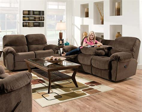 chocolate brown reclining sofa go ahead quot un boring quot your basement american freight