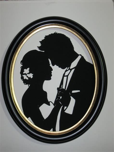 Wedding Silhouette by Paperportraits Custom Wedding Silhouette