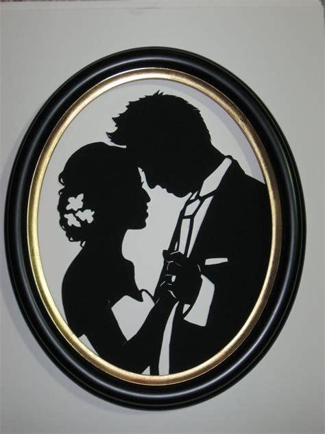 PaperPortraits.com: Custom Wedding Silhouette Scene