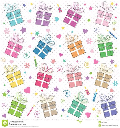 pattern birthday cute cute happy birthday background stock vector illustration