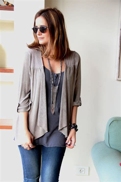 best grey grey top cardigan stripes top clothing sleeves size