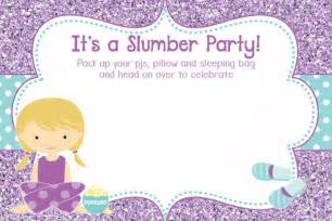 the best of sleepover invitations