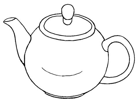 free coloring pages of tea pot