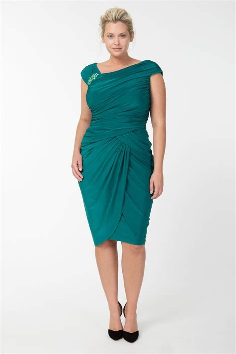 Fabulous Dresses Top 7 Picks by Draped Jersey Cocktail Dress In Emerald Exclusively Ours