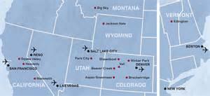 america ski resorts map ski holidays in the usa kuoni ski holidays