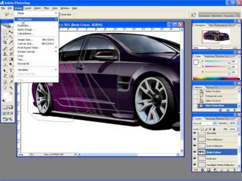 vehicle graphics design software adding graphics to a car rendering in photoshop youtube