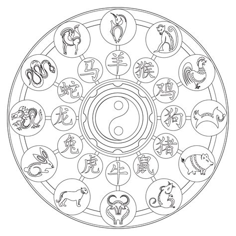 new year zodiac coloring sheets zodiac coloring page