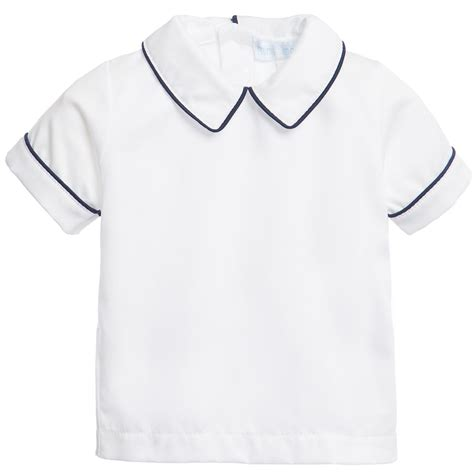 Kaos Tshirt Turn Back C R I M E mini la mode baby boys white collared shirt with blue