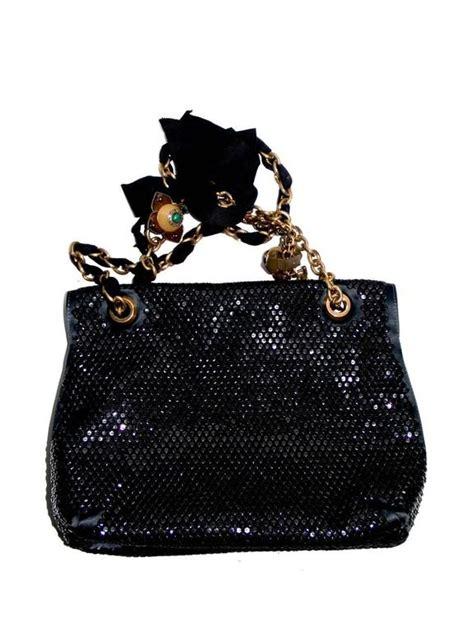 Ribbon Bag Black 0837 lanvin bag quot happy quot collection black satin sequins