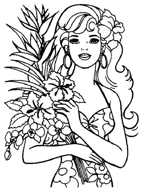 coloring barbie coloring pages kids