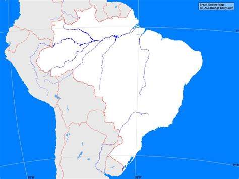 bodies of water list brazil outline map a learning family