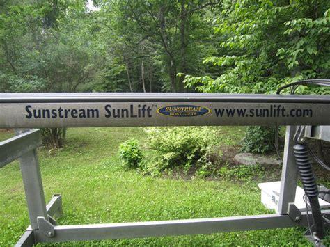 used hydraulic boat lift sunstream sunlift hydraulic boat lift outside ottawa