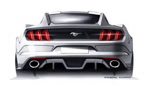 new car designs for 2015 new 2015 ford mustang sketches surface autoevolution