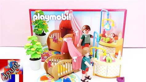 chambre de bébé playmobil construction et d 233 mo de la chambre enchant 233 e du b 233 b 233
