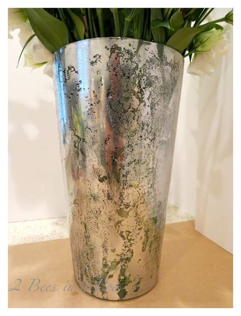 How To Spray Paint Glass Vases by Diy Mercury Glass Vases Mercury Glass Looking Glass