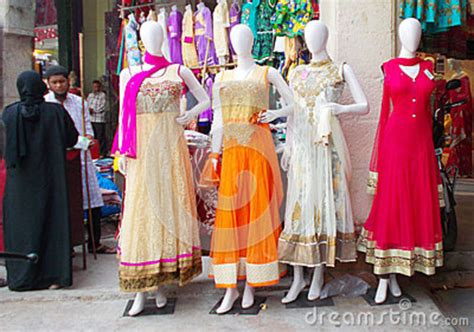 mannequins dressed in indian fashion editorial