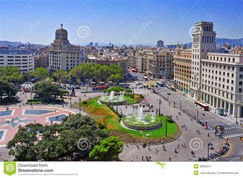 barcelona catalunya placa catalunya in barcelona spain editorial photography