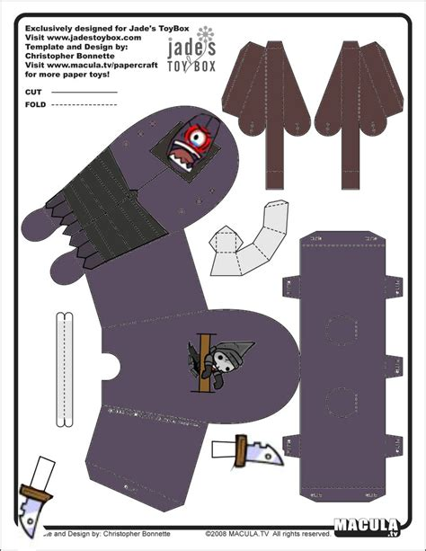 Castle Crashers Papercraft - castle crashers cyclops template by ludabo98 on deviantart