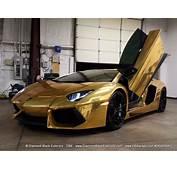 Lamborghini Aventadoor LP700 Gold Chrome Wrap By DBX Aka
